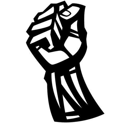 474x474 Pleasant Design Fist Clipart Freedom Concept Vector Black