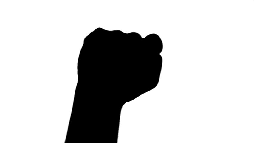 852x480 Resistance Fist Out Of The Dark Stock Footage Video 22475401