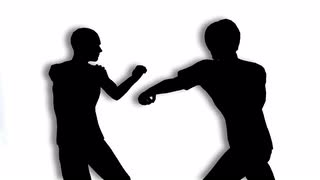320x180 Two Men Fighting Silhouette Motion Background