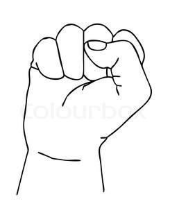 245x320 Drawn Fist Silhouette