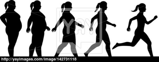 512x200 Fat To Fit Woman Vector