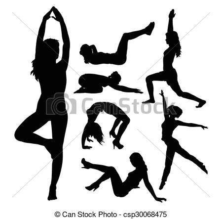 450x443 Fit Girl Sport Silhouettes. Fit Girl, Fitness, Sport Vectors