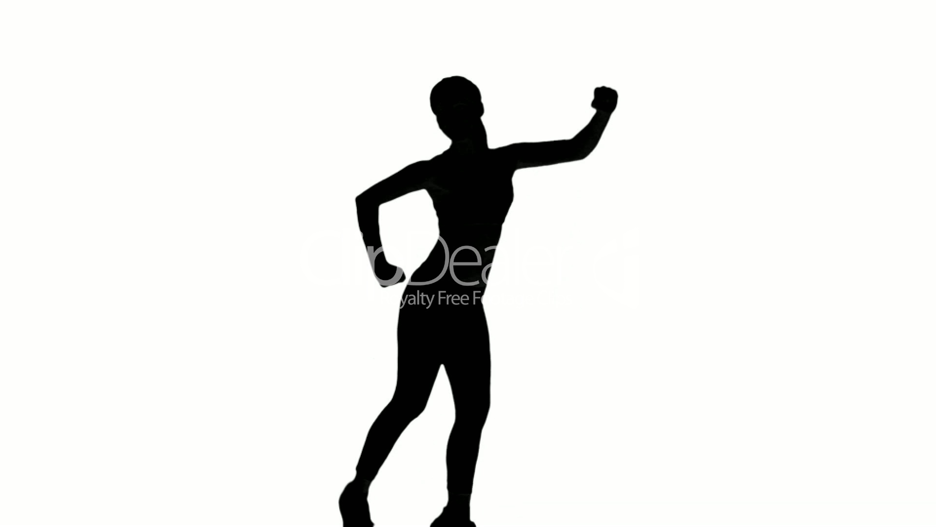1920x1080 Silhouette Of Woman Doing Fitness On White Background Royalty