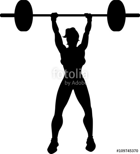 453x500 Cross Fit Woman Silhouette Stock Image And Royalty Free Vector