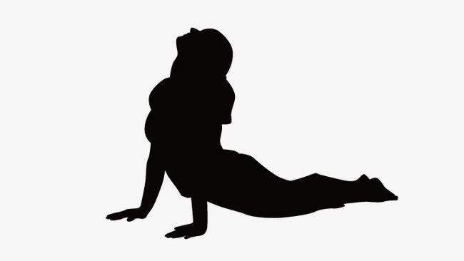 650x366 Yoga Girl, Fitness Girl Cartoon, Vector Girl Silhouette Png
