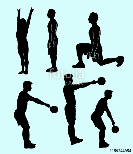 431x500 Fitness Sport Activity Silhouette. Good Use For Symbol, Logo, Web