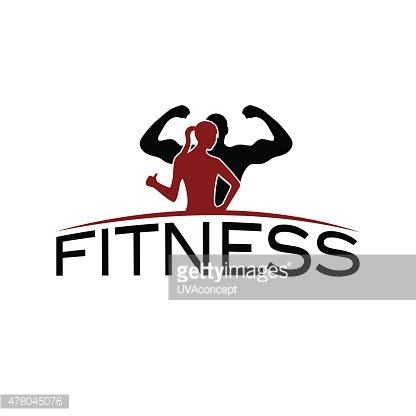 416x416 Man And Woman Of Fitness Silhouette Character Premium Clipart