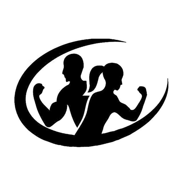 640x640 135cm95cm fashion fitness sport workout body silhouette decor