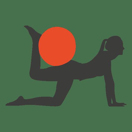 512x512 Pilates Exercise Girl Silhouette