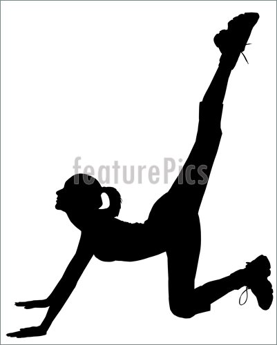 401x500 Illustration Of Silhouette Of Fitness Girl