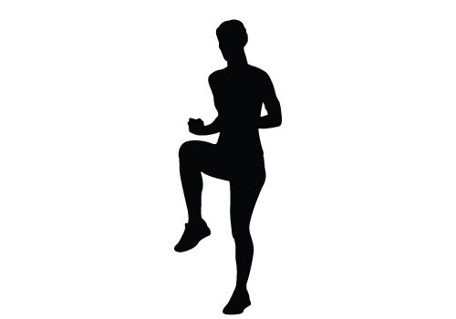 500x350 Woman Exercising Silhouette Vector Download Silhouette Graphics