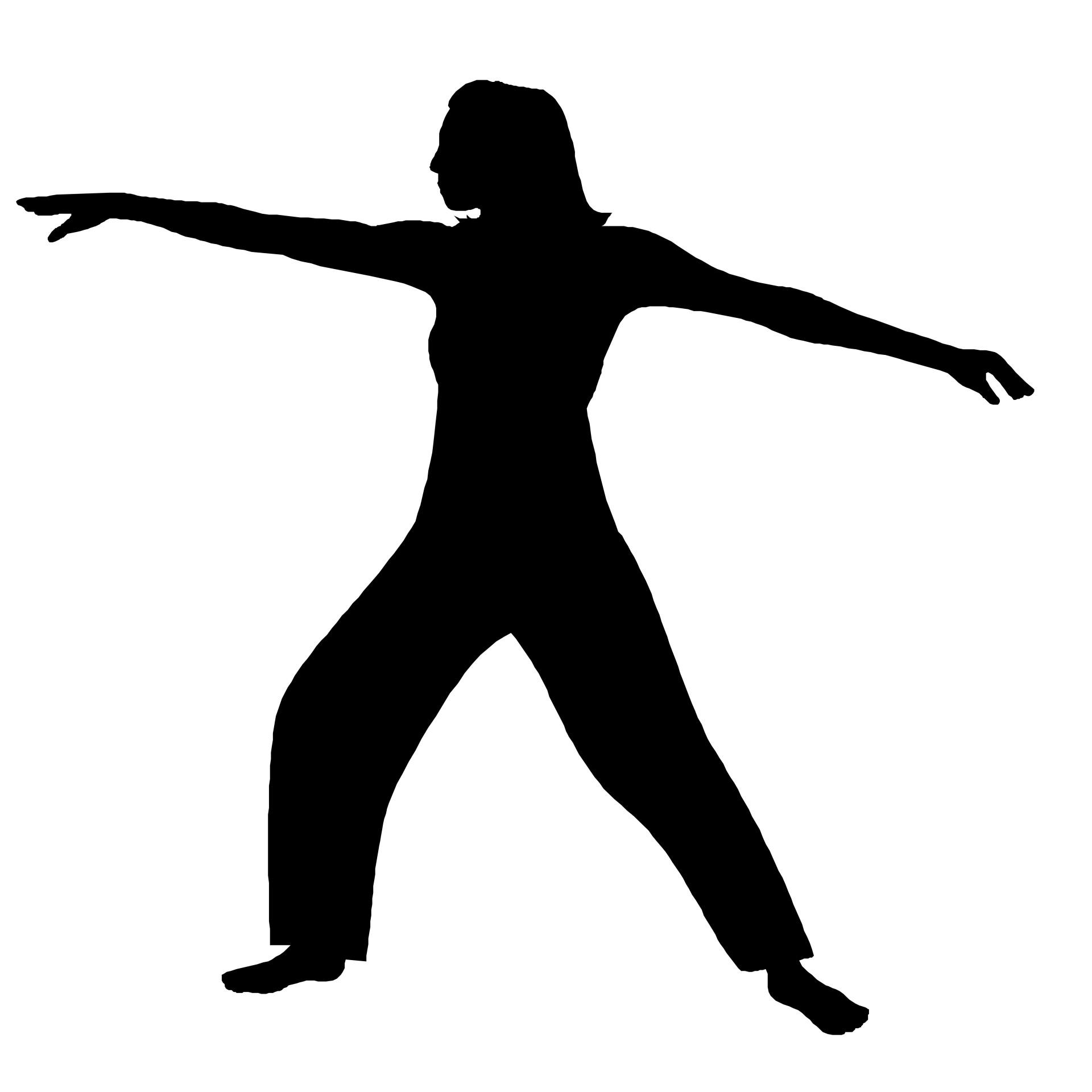 1920x1920 Fitness Silhouette Free Stock Photo