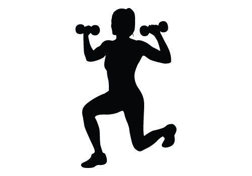 500x350 Fitness Silhouette Vector Download Free Woman Fitness Vector
