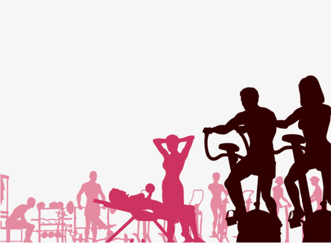 650x476 Fitness Silhouette Figures, Silhouette Figures, Fitness Png Image