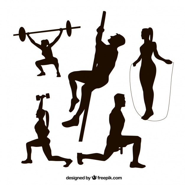 626x626 Fitness Silhouettes Collecti Vector Free Download