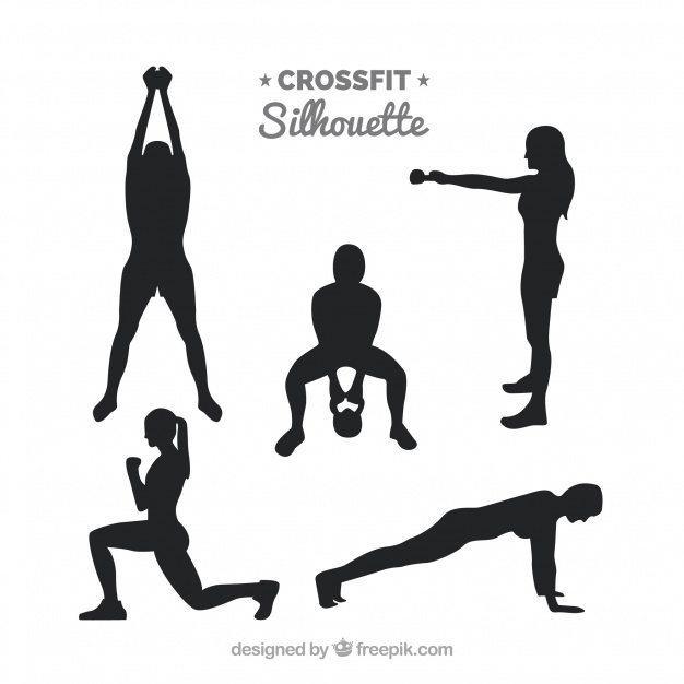 626x626 Fitness Silhouettes Collection Vector Free Download