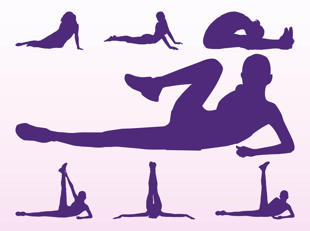 1024x765 Workout Girls Silhouettes Vector Art Amp Graphics