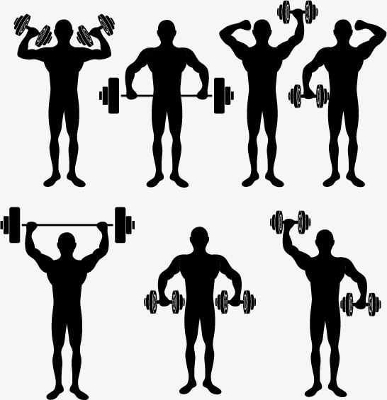 546x565 Exercise Male Silhouette Material, Work Out, Fitness