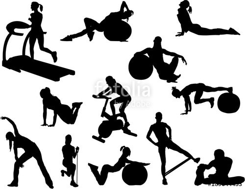 500x386 Fitness Silhouette Stock Image And Royalty Free Vector Files