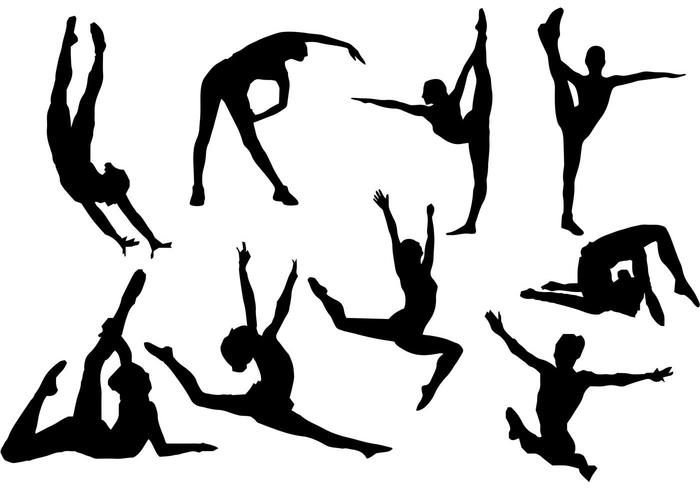 700x490 Free Gymnastics Silhouette Vector