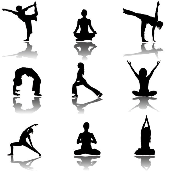 600x600 Yoga Silhouette Vector Material My Free Photoshop World