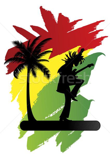 424x600 Reggae Man Silhouette Vector Illustration Tommaso Chiarolini