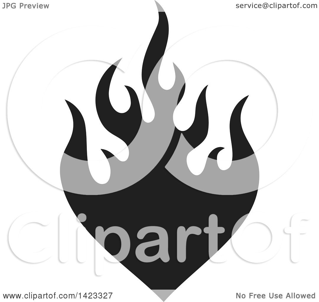 Flame Silhouette Vector