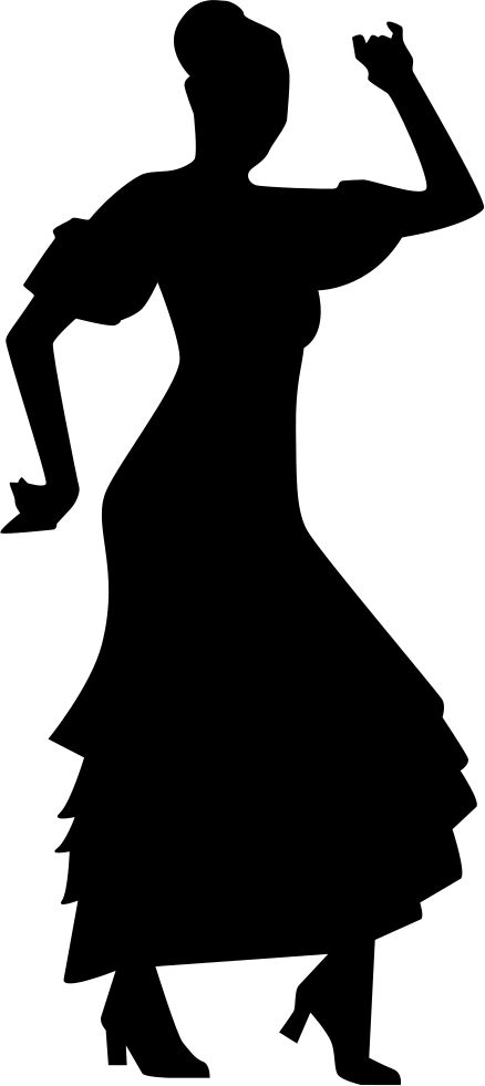 438x981 Flamenco Dancer Woman Silhouette Svg Png Icon Free Download