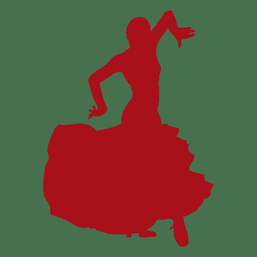 512x512 Flamenco Dancer Arms Floating Silhouette