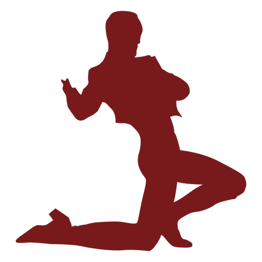 512x512 Flamenco dancer man kneel silhouette