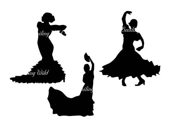 570x403 flamenco spanish dance svg clipart silhouette flamenco dancer