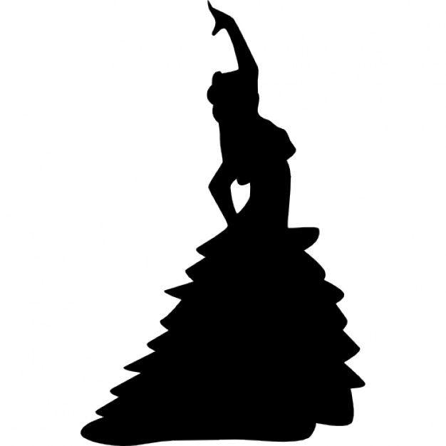 626x626 Bailarina De Flamenco Mujer Postura Silueta Con El Brazo Izquierdo