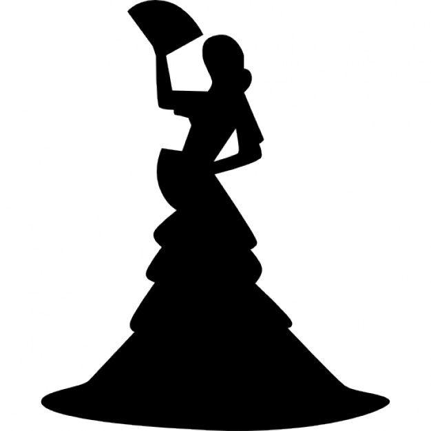 626x626 silueta de bailarina flamenca