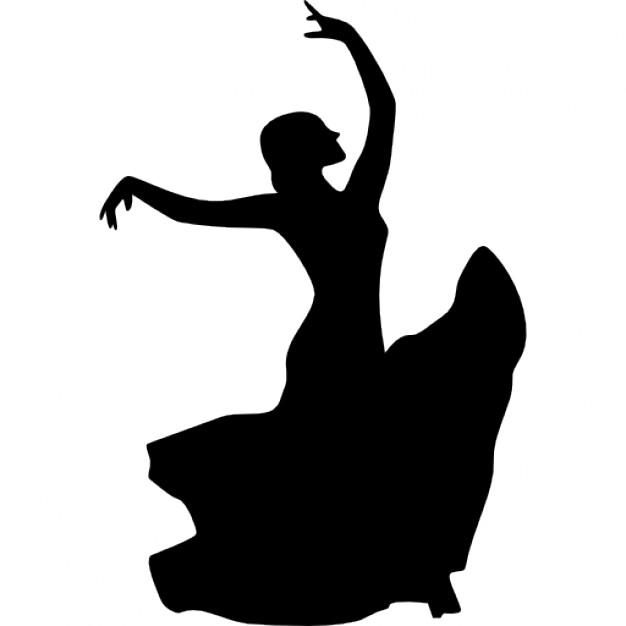 626x626 Female flamenco dancer Icons Free Download