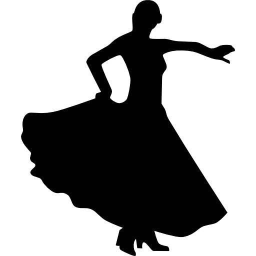 512x512 Female flamenco dancer silhouette