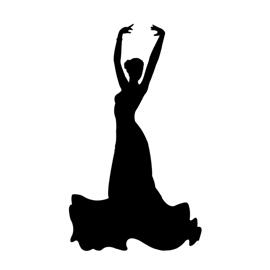 270x270 Flamenco Dancer Silhouette Stencil Free Stencil Gallery