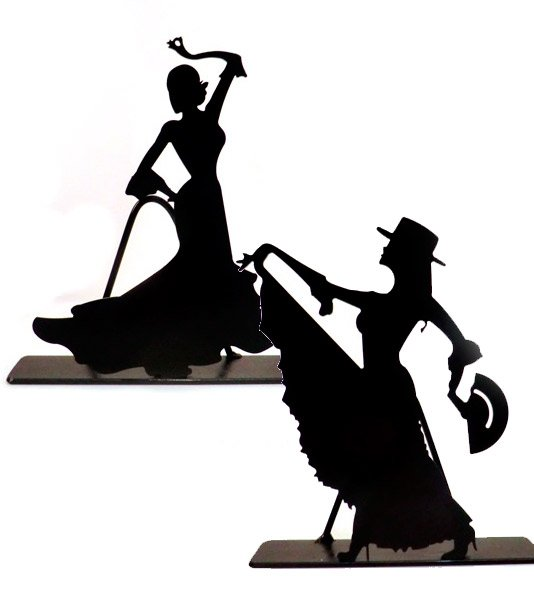 534x600 Iron Silhouette Of A Sevillan Girl And A Flamenco Dancer,in Zings