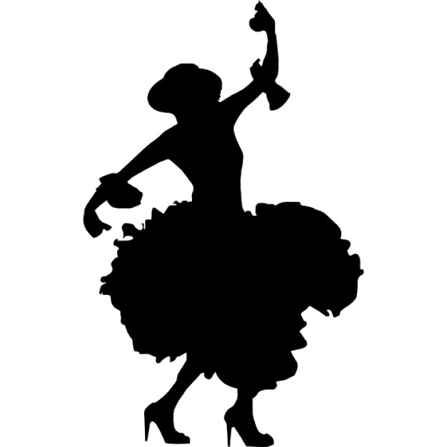 626x626 Female Flamenco Silhouette Icons Free Download