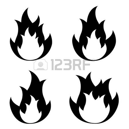 450x450 Fire Silhouette Clipart