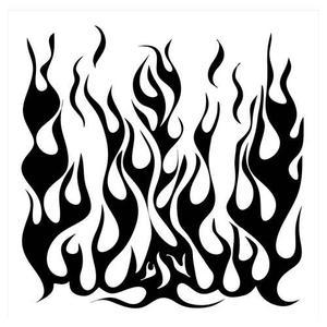 300x300 Crafter's Workshop Templates, 6x6 Flames Cricut Silhouette