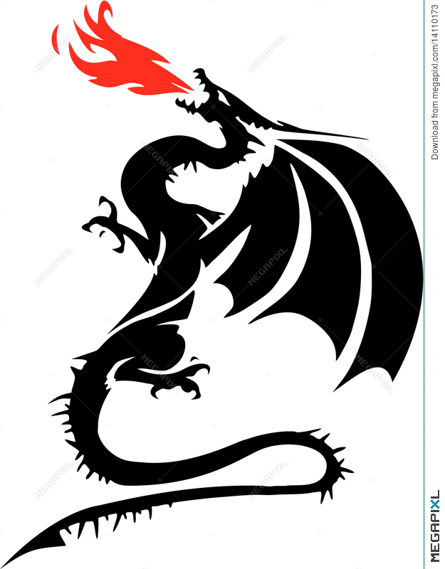 625x800 Fire Breathing Dragon Illustration 14110173