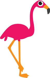 193x300 Printable Flamingo Bookmark Personalise With A By Papercakemakes