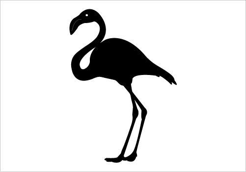 501x351 Flamingo Silhouette Graphics Silhouette Clip Art