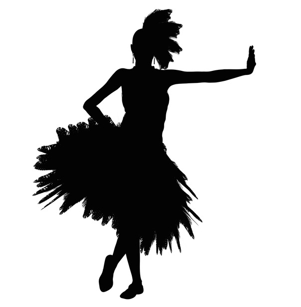603x615 Dancing Girl Silhouette Free Stock Photo