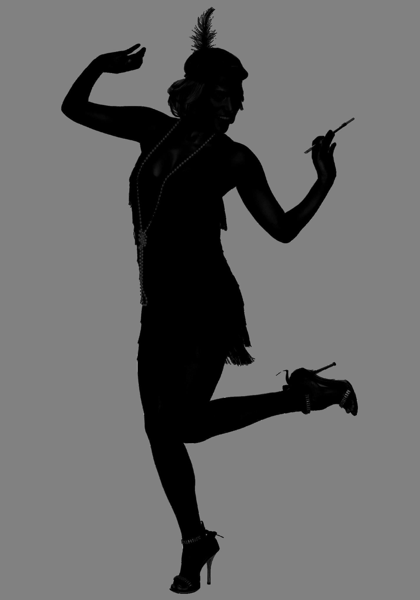 1426x2037 Flapper Silhoette.png Pixels Silhouettes