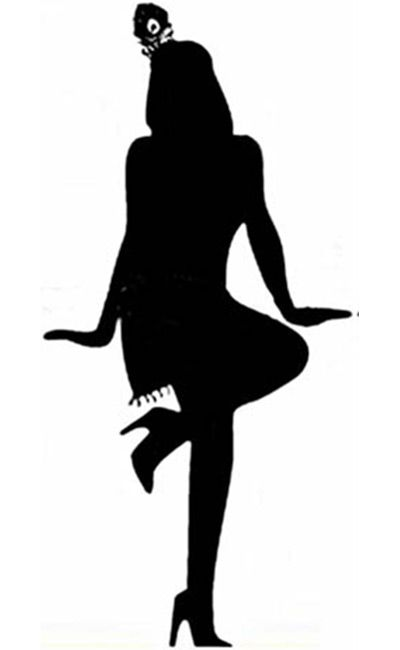 Flapper Silhouette Clip Art