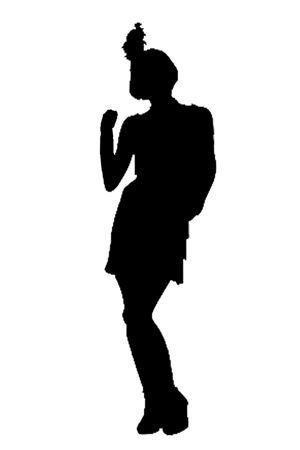 300x450 Roaring 20's Flapper Silhouette Cake Toppers