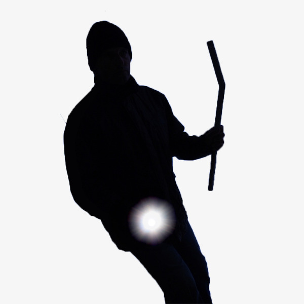 600x600 A Black Man Holding A Flashlight, Man In Black, Flashlight, Black