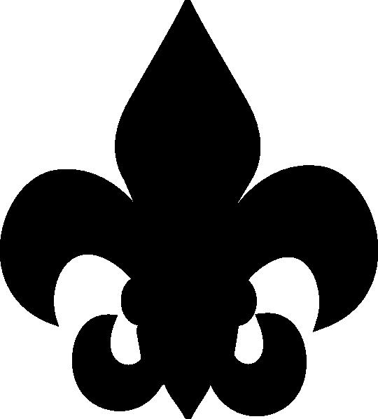 540x599 14 Fluer De Lis With Decorative Divider Clip Art Free Vector