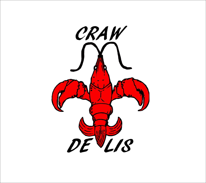 1500x1333 Craw De Lis Decal Adhesive Vinyl Sticker 7.8 Crawfish Fleur De